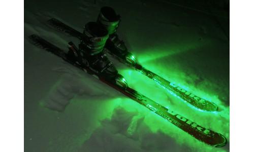 подсветка лыж зеленая