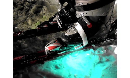 Подсветка лыж многоцветная