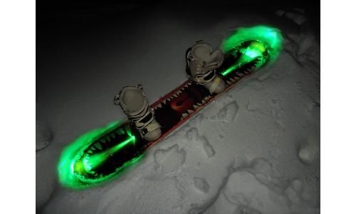 подсветка сноуборда зеленая
