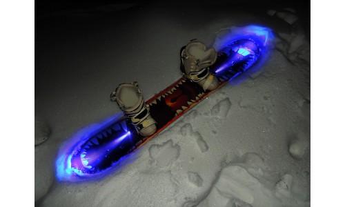 Подсветка сноуборда одноцветная