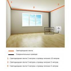 Подсветка потолка 16 цветов 6-10 метров
