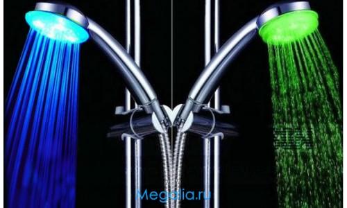 Душ с подсветкой (синий/зеленый)