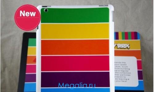 """Накладка для iPad 2 """"Разноцветная полоска"""""""