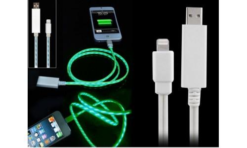 Кабель для iPhone,iPad,iPod светящийся