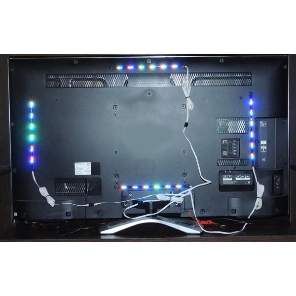 Светодиодная подсветка за телевизором 142
