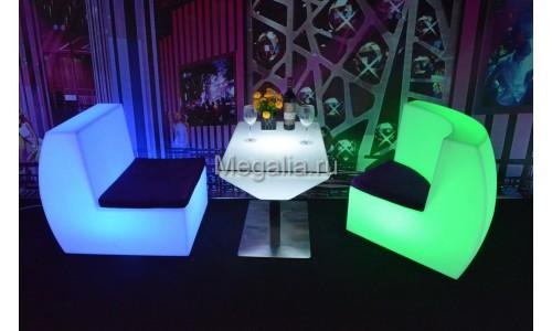 """Светящийся журнальный столик """"Trapeze III"""""""