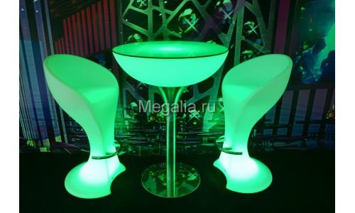 """Светящийся коктейльный стол """"Martini"""""""