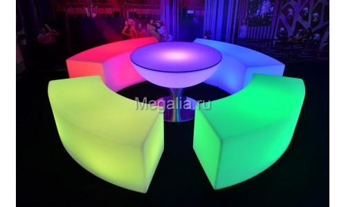 """Светящийся стул """"Сurve bench"""""""