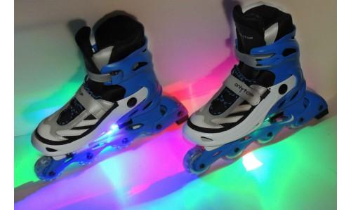 Подсветка роликовых коньков многоцветная