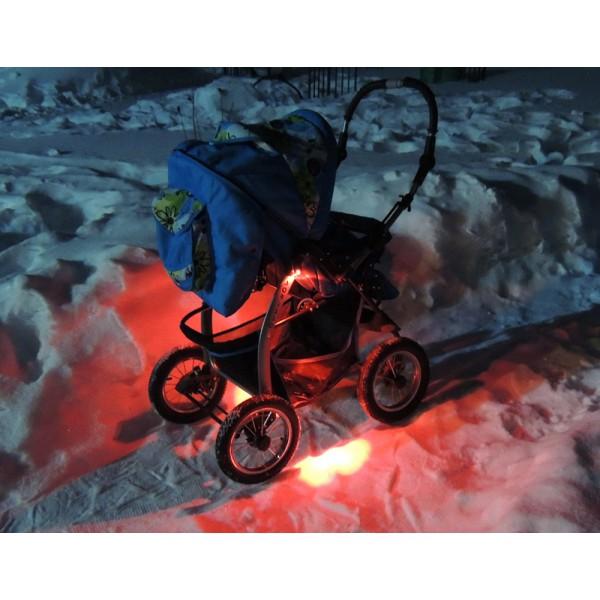 подсветка коляски красная