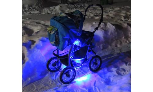 Подсветка коляски одноцветная