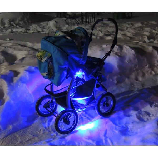 подсветка коляски синяя