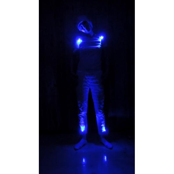 подсветка одежды цвет синий