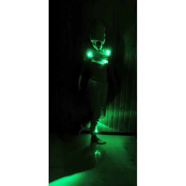 подсветка одежды зеленый