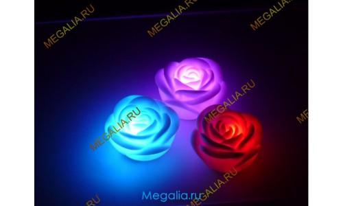 Роза светящаяся разноцветная