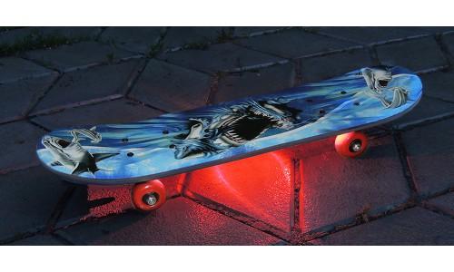 Подсветка скейтборда одноцветная
