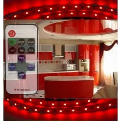 Подсветка для кухни 5 метров красная (SMD 3528) радио пульт