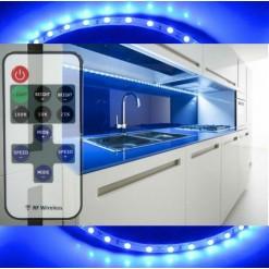 Подсветка для кухни 5 метров синяя (SMD 3528) радио пульт