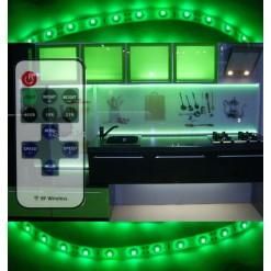 Подсветка для кухни 5 метров зелёная (SMD 3528) радио пульт