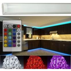Подсветка для кухни 1 метр RGB в алюминиевом профиле