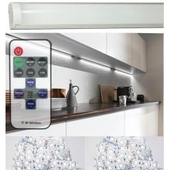 Подсветка для кухни 1 метр в алюминиевом профиле белая  SMD 3014 LUX