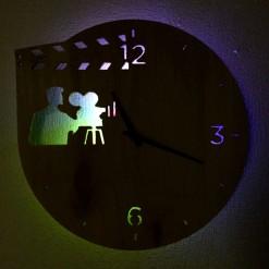 Часы с подсветкой «Кино №4»
