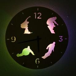 Часы с подсветкой «Сноуборд №13»