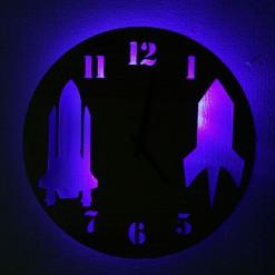 Часы с подсветкой «Самолет №30»