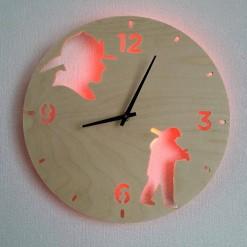 Часы с подсветкой «Пожарные №190»