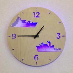 Часы с подсветкой «Корабли №345»