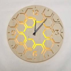 Часы с подсветкой «Соты №805»
