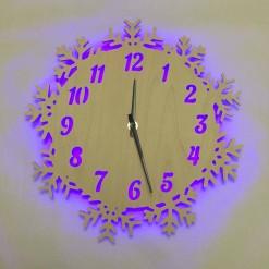 Часы с подсветкой «Снежинки №806»