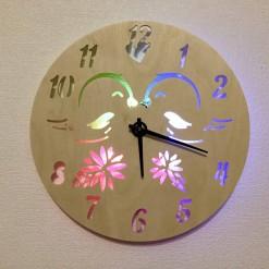 Часы с подсветкой «Птички №809»
