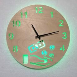 Часы с подсветкой «Деньги №814»
