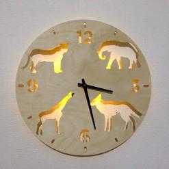 Часы с подсветкой «Животные №825»