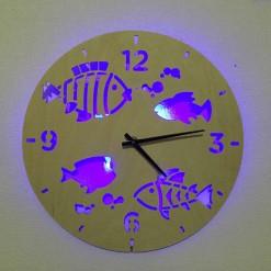 Часы с подсветкой «Рыбы №826»