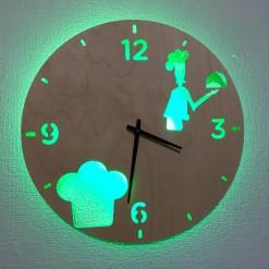 Часы с подсветкой «Повар №827»