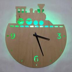 Часы с подсветкой «Поезд №828»