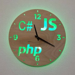 Часы с подсветкой «Программист №836»