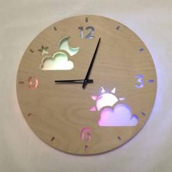Часы с подсветкой «Луна и солнце №843»