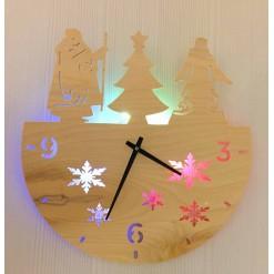 Часы с подсветкой «Дед мороз №858»