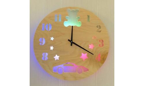 Детские часы ночник «Машинка №859»