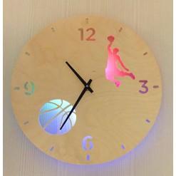 Часы с подсветкой «Баскетбол №861»