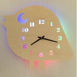Часы с подсветкой «Птичка №866»