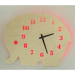 Часы с подсветкой «Слон №867»