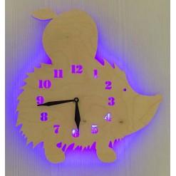 Часы с подсветкой «Ежик №868»