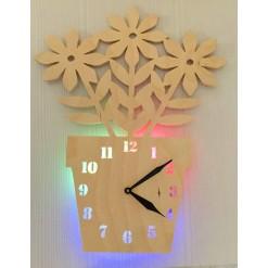 Часы с подсветкой «Цветок №870»