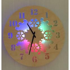 Часы с подсветкой «Шестеренки №872»