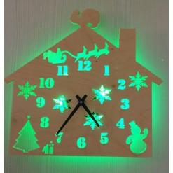 Часы с подсветкой «Дом №875»