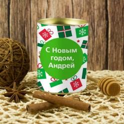 Именной подарочный мед «С новым годом!»
